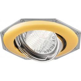 Светильник встраиваемый 305T-MR16 потолочный MR16 G5.3 золото-хром