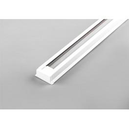 Шинопровод для трековых светильников, белый, 1м,  в наборе 2 заглушки, крепление, CAB1000