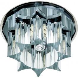 Светильник потолочный, JCD G9 с черным стеклом, хром, с лампой, CD2500