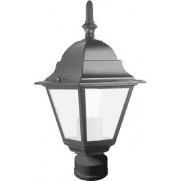 Светильник садово-парковый 4103 четырехгранный на столб 60W E27 230V, черный