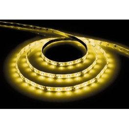 Cветодиодная LED лента LS604, 60SMD(3528)/м 4.8Вт/м  5м IP65 12V желтый