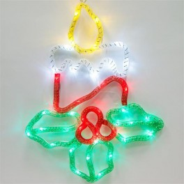 Световая фигура 4,5V  15 LED, белый цвет свечения, батарейки 3*АА IP20, 31*41,5 см, LT054 артикул