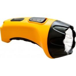 Фонарь аккумуляторный, 4 LED DC (свинцово-кислотная батарея), желтый, TH2293 (TH93A)