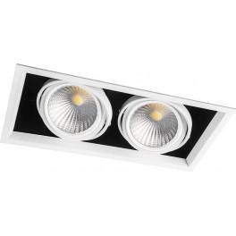 Светодиодный светильник AL212 карданный 2x30W 4000K 35 градусов ,белый