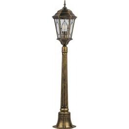 Светильник садово-парковый PL165 столб шестигранный 60W E27 230V, черное золото