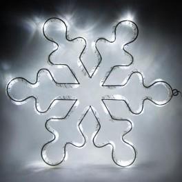 Световая фигура 4,5V  15 LED, белый цвет свечения, батарейки 3*АА IP20, 33*33 см, LT053 артикул