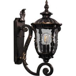 Светильник садово-парковый PL5001 круглый на стену вверх 60W 230V E27, темно-коричневое золото