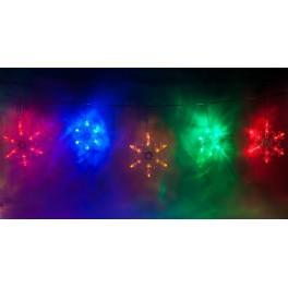 Светодиодная гирлянда CL108 фигурная 220V разноцветная c питанием от сети