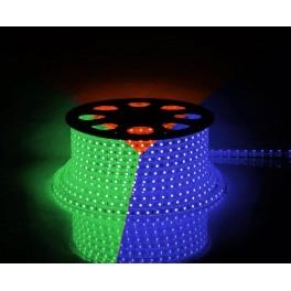 Cветодиодная LED лента LS707, 60SMD(5050)/м 14.4Вт/м  50м IP65 220V RGB