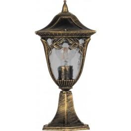 Светильник садово-парковый PL4074 четырехгранный на постамент 60W E27 230V, черное золото