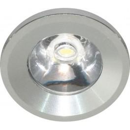 Светодиодный светильник G770 встраиваемый 1W 6400K серебристый