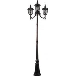 Светильник садово-парковый PL5009 столб круглый 60W 230V E27, темно-коричневое золото