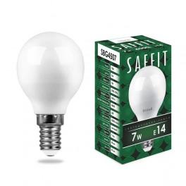 Лампа светодиодная SAFFIT SBG4507 Шарик E14 7W 4000K
