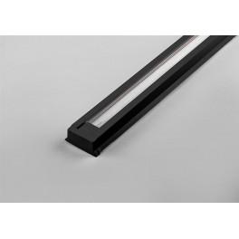 Шинопровод для трековых светильников, черный, 2м, в наборе 2 заглушки, крепление, CAB1000