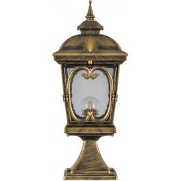 Светильник садово-парковый PL136 четырехгранный на постамент 100W 230V E27, черное золото