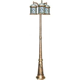 Светильник садово-парковый PL178 столб шестигранный 3*60W E27 230V, черное золото