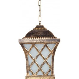 Светильник садово-парковый PL4064 четырехгранный на цепочке 60W E27 230V, черное золото