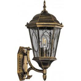 Светильник садово-парковый PL150 шестигранный на стену вверх 60W E27 230V, черное золото