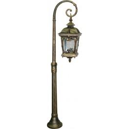 Светильник садово-парковый PL148 столб четырехгранный 100W 230V E27, черное золото