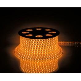 Cветодиодная LED лента LS707, 60SMD(5050)/м 14.4Вт/м  50м IP65 220V желтый