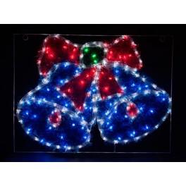 Световая фигура 230V 5м LED  белый+синий+зеленый+красный, 24 LED/1м, 9.6W, 20mA, IP 44, шнур 1,5м х1мм, LT016 артикул