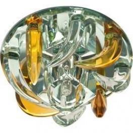 Светильник потолочный, JC G4 с желтым и прозрачным стеклом, зеркальный, с лампой, CD2531