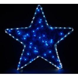 Световая фигура 230V4м LED  белый+синий, 24 LED/1м, 4.8W, 20mA, IP 44, шнур 1,5м х 1мм, LT015 артикул