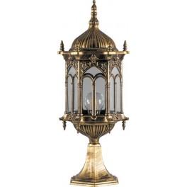 Светильник садово-парковый PL115 шестигранный на постамент 60W 230V E27 черное золото