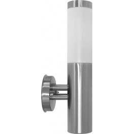 Светильник садово-парковый DH021-B, Техно на стену вверх, 18W E27 230V, серебро