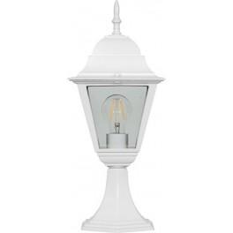 Светильник садово-парковый 4104 четырехгранный на постамент 60W E27 230V, белый