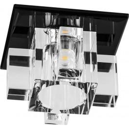 Светильник встраиваемый светодиодный 1525 потолочный 10W 3000K прозрачно-черный