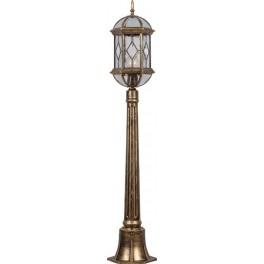 Светильник садово-парковый PL170 столб шестигранный 60W E27 230V, черное золото