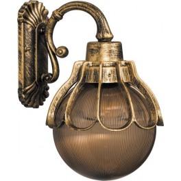 Светильник садово-парковый PL5052 шар на стену вниз 100W E27 230V, черное золото