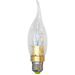 Лампа светодиодная, 6LED(3.5W) 230V E27 6400K золото, LB-71