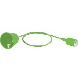 Патрон для ламп со шнуром 1м, 230V E27, зеленый, LH127