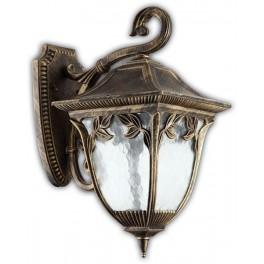 Светильник садово-парковый PL4082 четырехгранный на стену вниз 100W E27 230V, черное золото