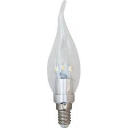 Лампа светодиодная, 12LED(4,5W) 230V E14 4000K, LB-71