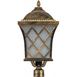 Светильник садово-парковый PL4065 четырехгранный на столб 60W E27 230V, черное золото