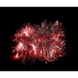 Светодиодная гирлянда CL404 мишура красный с питанием от батареек Артикул