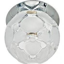 Светильник потолочный, JCD9 35W G9 с прозрачным-матовым стеклом, хром, JD175