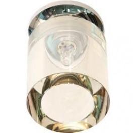 Светильник потолочный, JCD9  50W с желтым  стеклом, хром, JD151