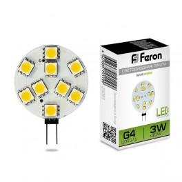 Лампа светодиодная LB-16 G4 3W 4000K