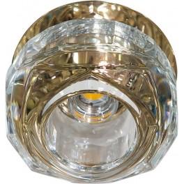 Светильник встраиваемый светодиодный JD190 потолочный 10W 3000K прозрачно-золотистый