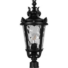 Светильник садово-парковый PL4003 круглый на столб 60W 230V E27, черный