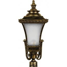 Светильник садово-парковый PL4025 четырехгранный на столб 60W E27 230V, черное золото