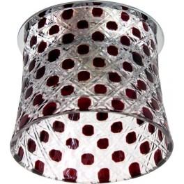 Светильник потолочный, JCD9 G9 с красным стеклом, с лампой, CD2317