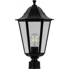 Светильник садово-парковый 6103 шестигранный на столб 60W E27 230V, черный