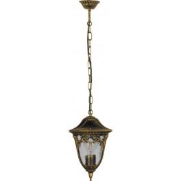 Светильник садово-парковый PL4085 четырехгранный на цепочке 100W E27 230V, черное золото