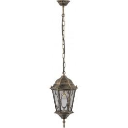 Светильник садово-парковый PL164 шестигранный на цепочке 60W E27 230V, черное золото