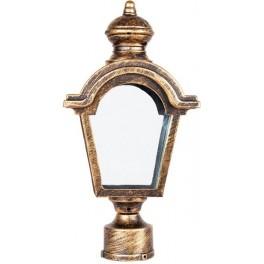 Светильник садово-парковый PL4015 четырехгранный на столб 60W E27 230V, черное золото